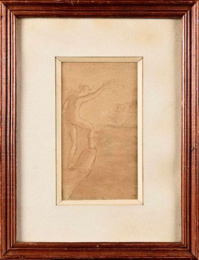 AUGUSTE RODIN (1840-1917) Marie, montée sur...