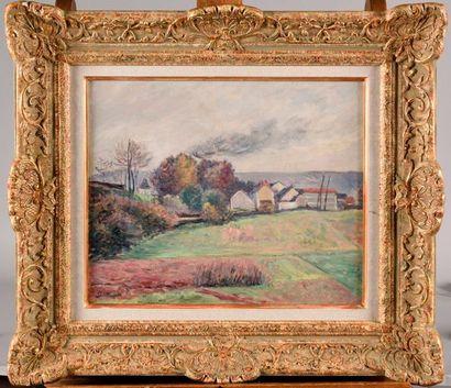 ARMAND GUILLAUMIN (1841-1927) Village dans...