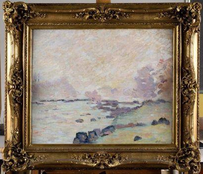 ARMAND GUILLAUMIN (1841-1927) Le barrage...