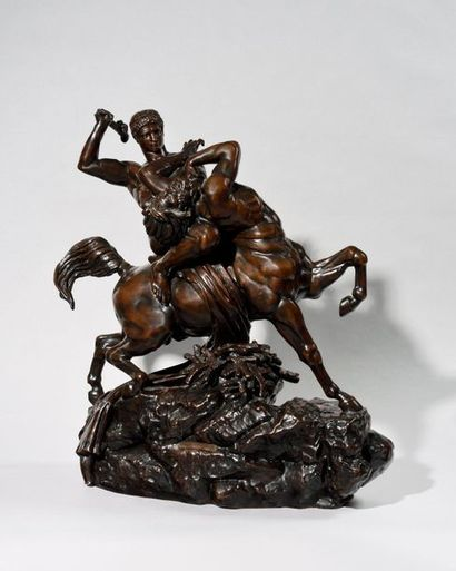 ANTOINE-LOUIS BARYE (1795-1875) Thésée combattant...