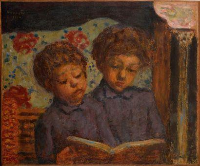 PIERRE BONNARD (1867-1947) Enfants solfiant,...