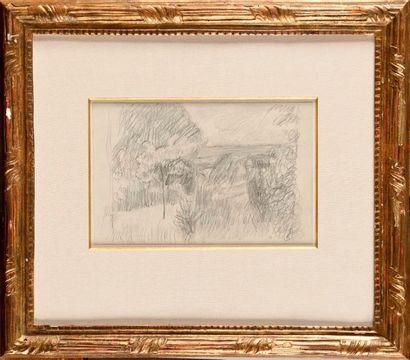 PIERRE BONNARD (1867-1947) Paysage aux maisons...