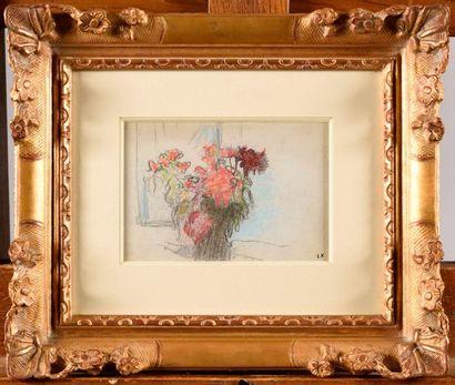 ÉDOUARD VUILLARD (1868-1940) Bouquet de fleurs...