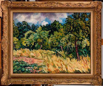 LOUIS VALTAT (1869-1952) Paysage, environs...