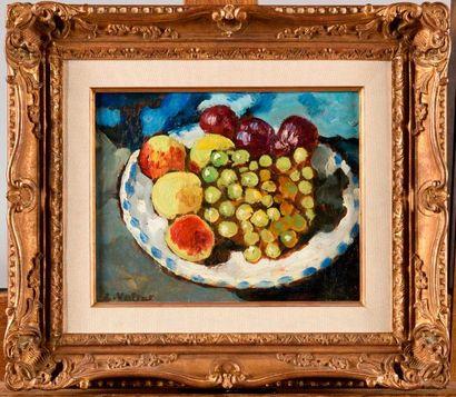LOUIS VALTAT (1869-1952) L'assiette de fruits...