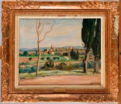 ALBERT ANDRÈ (1869-1954) Vue du village de...