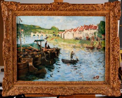 PIERRE EUGÈNE MONTEZIN (1874-1946) Ponton...