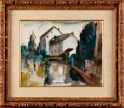 MAURICE DE VLAMICNK (1876-1958) Maison au...