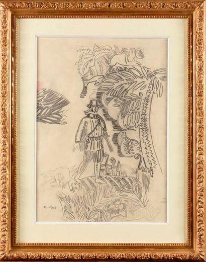 RAOUL DUFY (1877-1953) Le chasseur, circa...