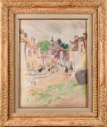 RAOUL DUFY (1877-1953) Village de Normandie,...