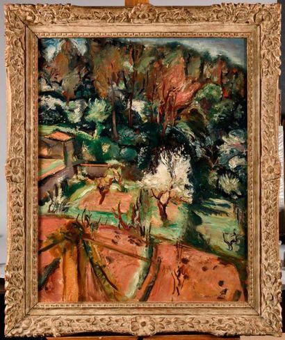 EMILE OTHON FRIESZ (1879-1949) Paysage, Amandiers...