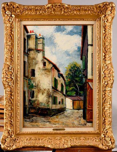 ÉLISÉE MACLET (1881-1962) Ruelle Huile sur...