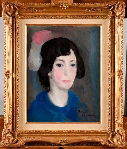 MARIE LAURENCIN (1883-1956) Jeune femme au...