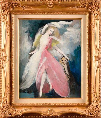 MARIE LAURENCIN (1883-1956) Élégance Huile...
