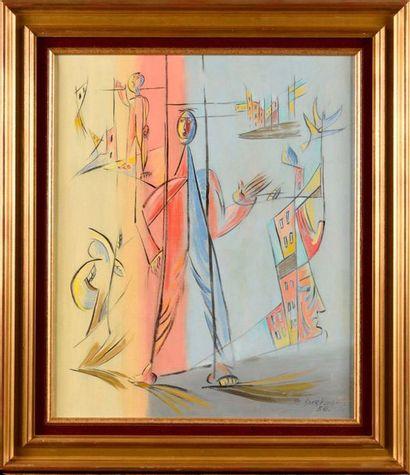 LÉOPOLD SURVAGE (1879-1968) Personnage surréaliste,...