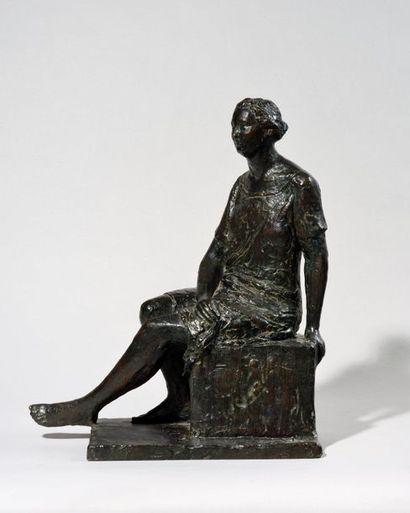 PAUL CORNET (FRA/ 1892-1977) Femme assise...