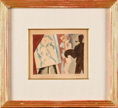 ANDRÉ LHOTE (1885-1962) Le peintre et son...