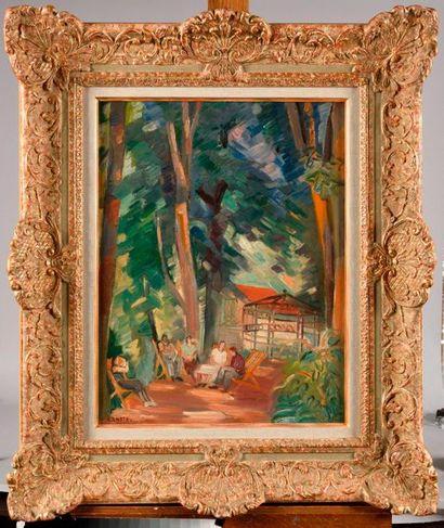 ANDRÉ LHOTE (1885-1962) Le Raincy, conversation...