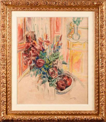 JEAN DUFY (1888-1964) Nature morte au bouquet...