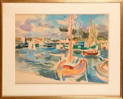 ANDRÉ PLANSON (FRA/ 1898-1981) La Trinité-sur-Mer...