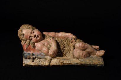 Saint Jean-Baptiste enfant en terre cuite...