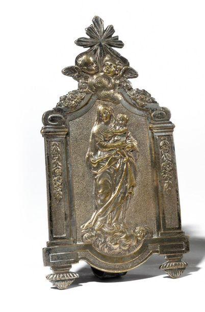 Baiser de Paix en bronze argenté représentant...