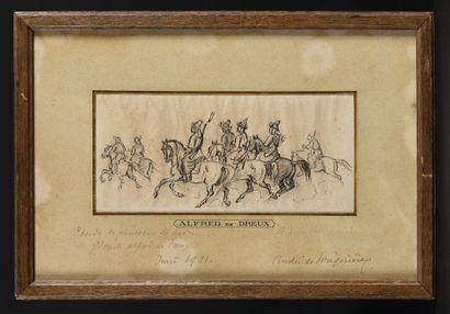 ALFRED DE DREUX (1810-1860) Cavaliers tartares....