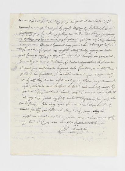 DOMMARTIN (ELZEAR-AUGUSTE COUSIN DE). Lettre...