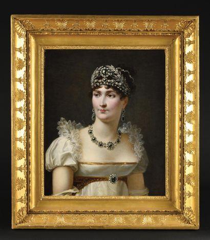 JEAN-BAPTISTE REGNAULT, BARON (1754-1829) Portrait de l'Impératrice Joséphine portant...