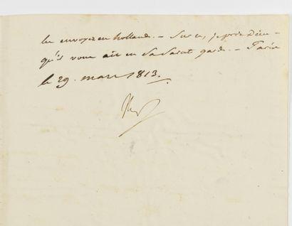 NAPOLÉON IER. Lettre signée « Nap » au général...