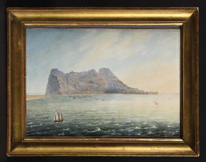 LOUIS PHILIPPE CREPIN (1772-1851) Le rocher...