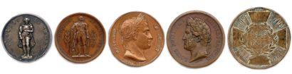 LOT DE 5 MEDAILLES EN CUIVRE : Médaille en...