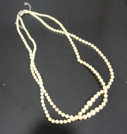 Collier de perles deux rangs (perles probablement...