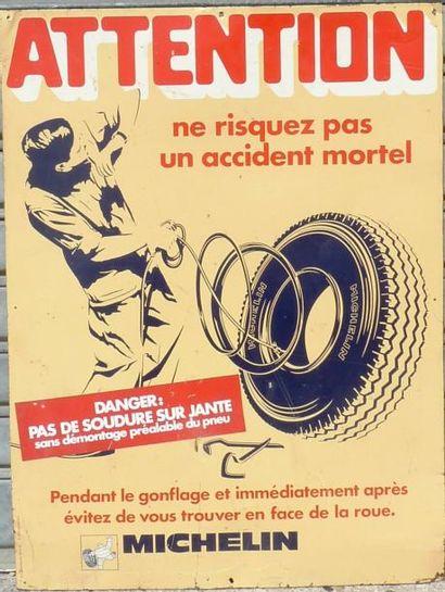 Tôle peinte Michelin (80 x 60 cm)