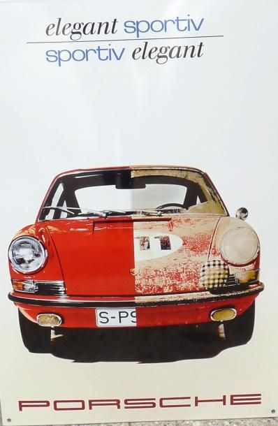 Plaque émaillée Porsche (60 x 40 cm)