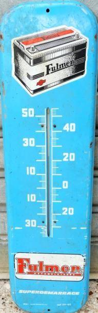 Tôle peinte Fulmen avec thermomètre (69 x18...