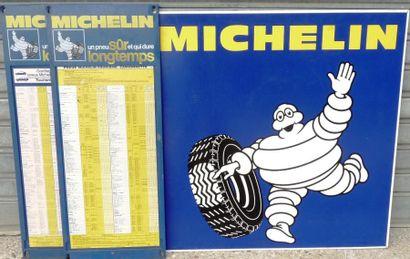 Lot Michelin comprenant une tôle peinte double...