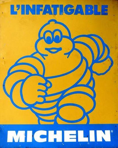 Tôle peinte Michelin «L'infatigable» (100...