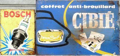 Lot comprenant 2 tôles peintes Cibié (60...