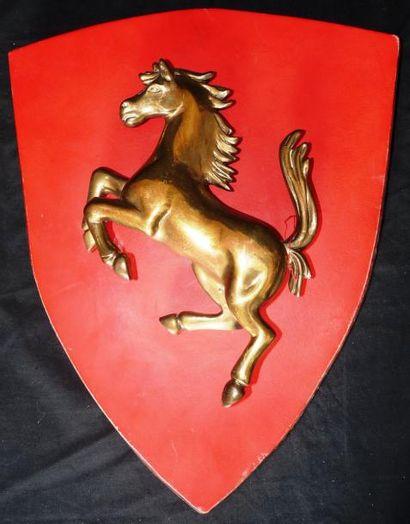 Cheval cabré sur fond rouge (46 x 36 cm)