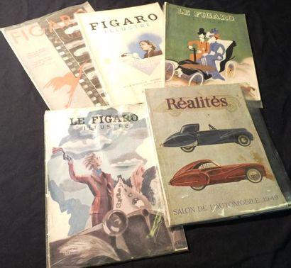 Lot comprenant Le Figaro Illustré (Salons...