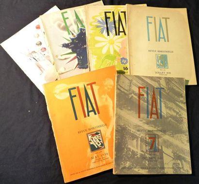 Lot comprenant 5 Revues Bimestrielle FIAT...
