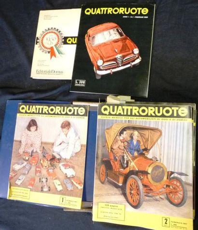 Lot comprenant Quattroruote (mensuel) complet...