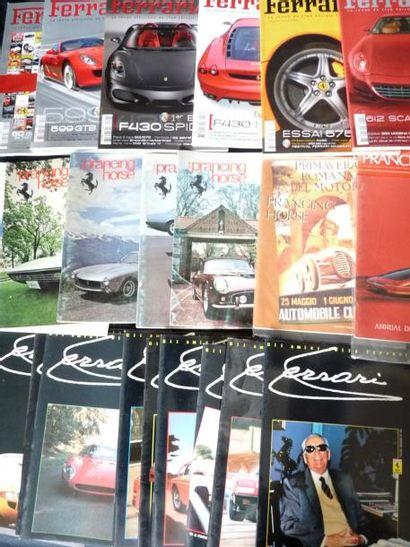 Lot comprenant Ferrari Club n° 1, 2, 3, 4,...