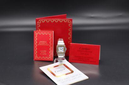 CARTIER Santos Circa 1990. Numéro de série : 090276382. Montre bracelet Cartier...