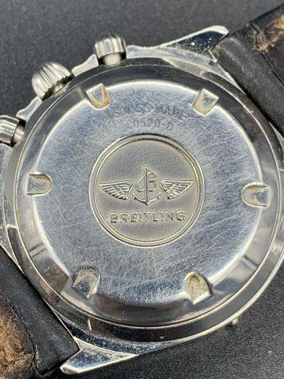 BREITLING Callisto 3 compteurs Circa 1990 Montre de dame modèle Callisto en acier,...