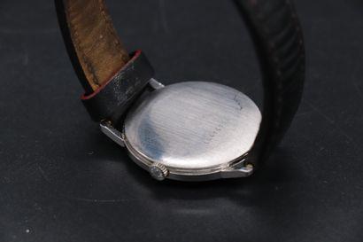 "LONGINES DEVILLE "" extra-flat "" Circa 1970 Ref 16474724 Steel bracelet watch, extra-flat..."