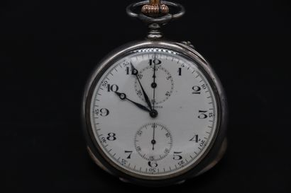 LONGINES N° 2291186, vers 1910. Beau chronographe...