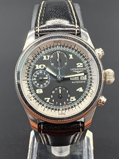 LONGINES Weems Chronograph Swissair exclusive...