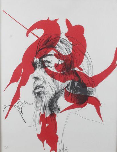 RAYMOND MORETTI (1931-2005) Le seigneur rouge,...